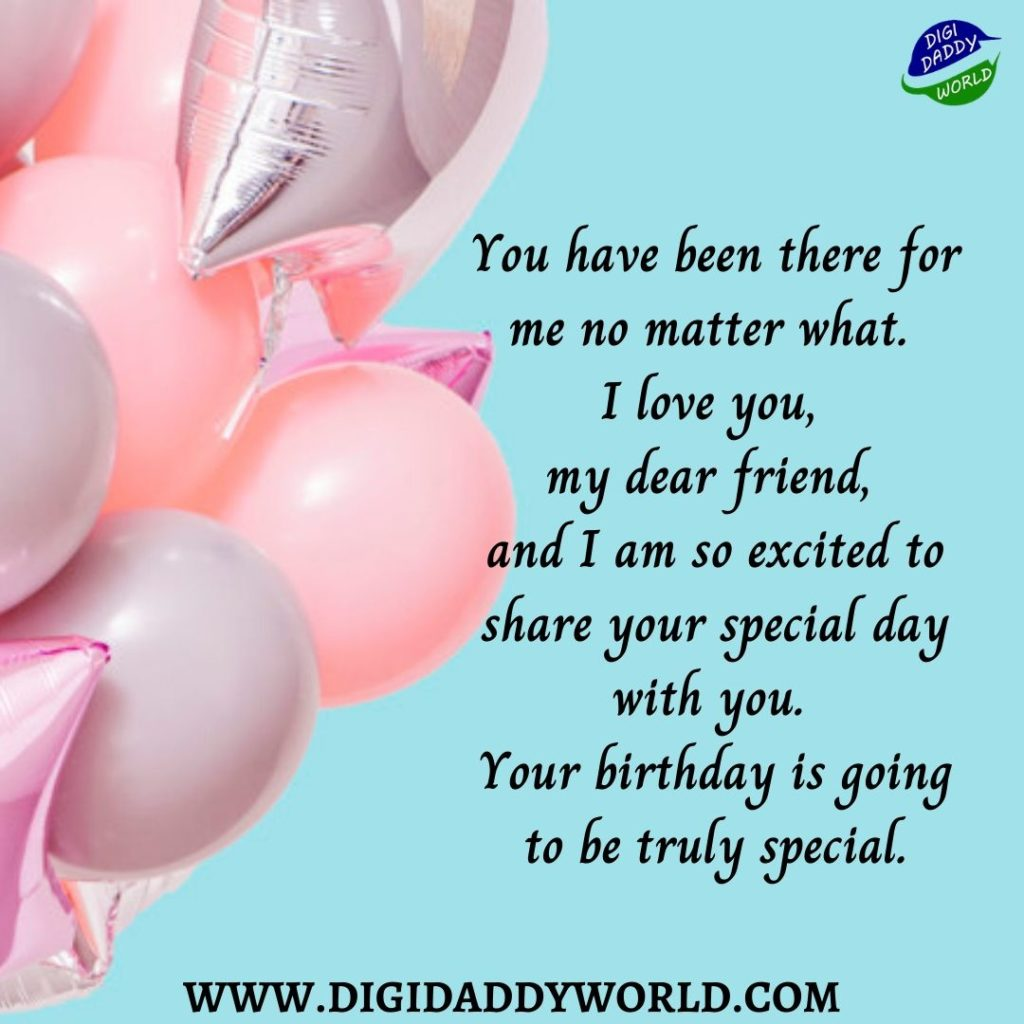 Happy Birthday Wishes for the Close Friends
