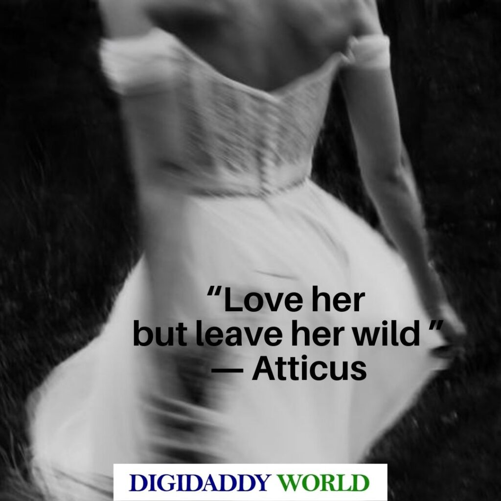 Short Love Her But Leave Her Wild Poems By Atticus