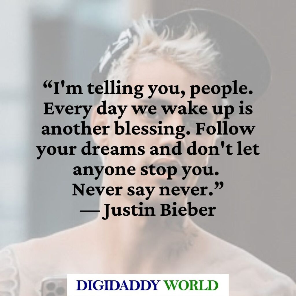 Justin Bieber Love Quotes and Sayings