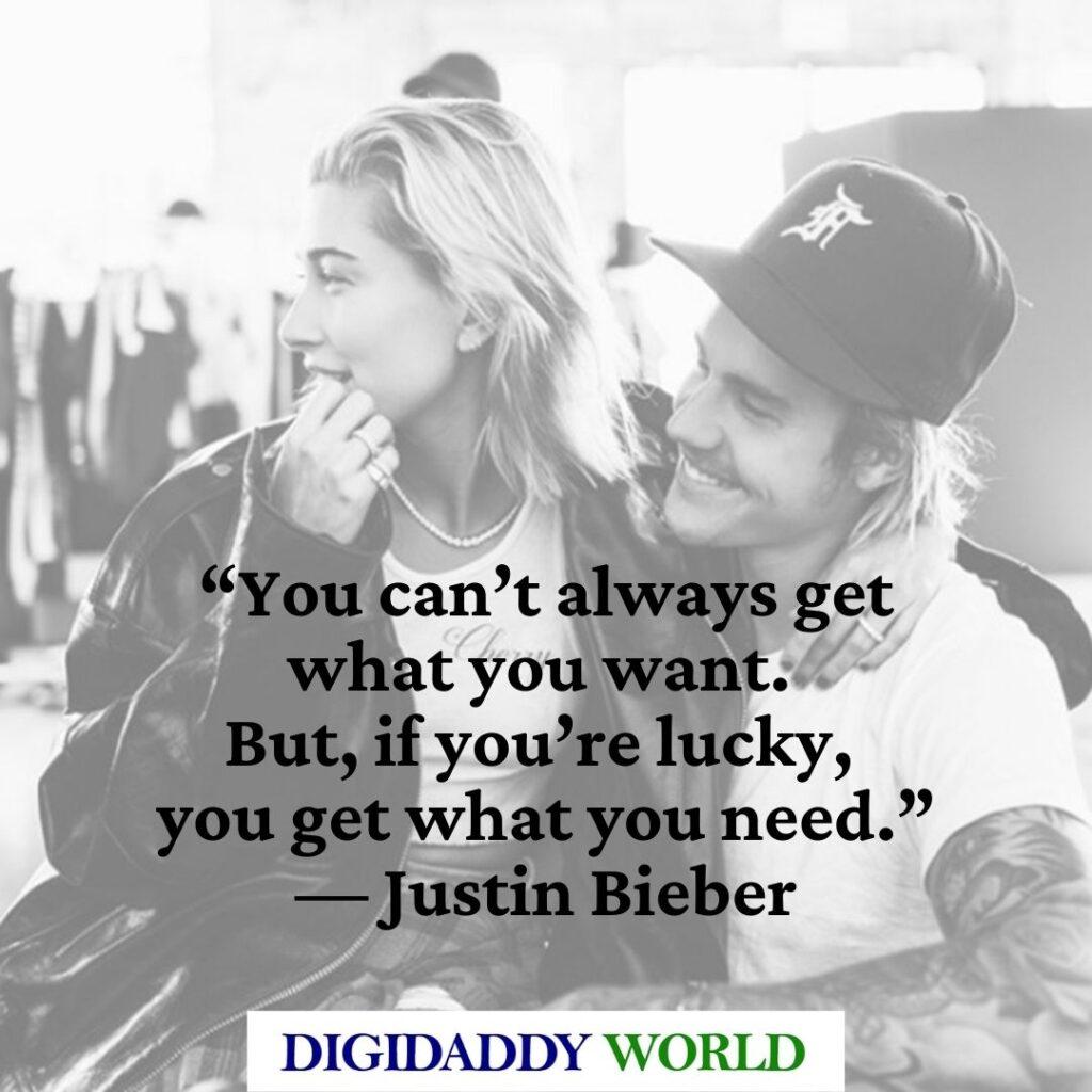 Justin Bieber Lyrics Quotes and Sayings