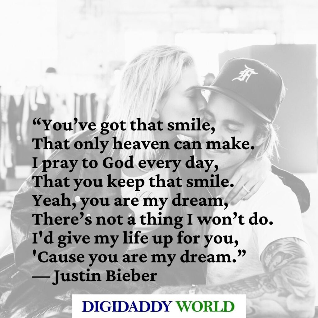 Best Justin Bieber Love Quotes on Finding Purpose