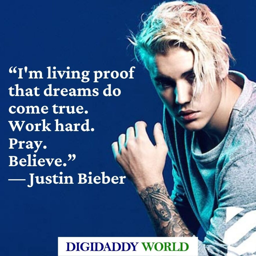 Justin Bieber Famous Love Quotes and Phrases