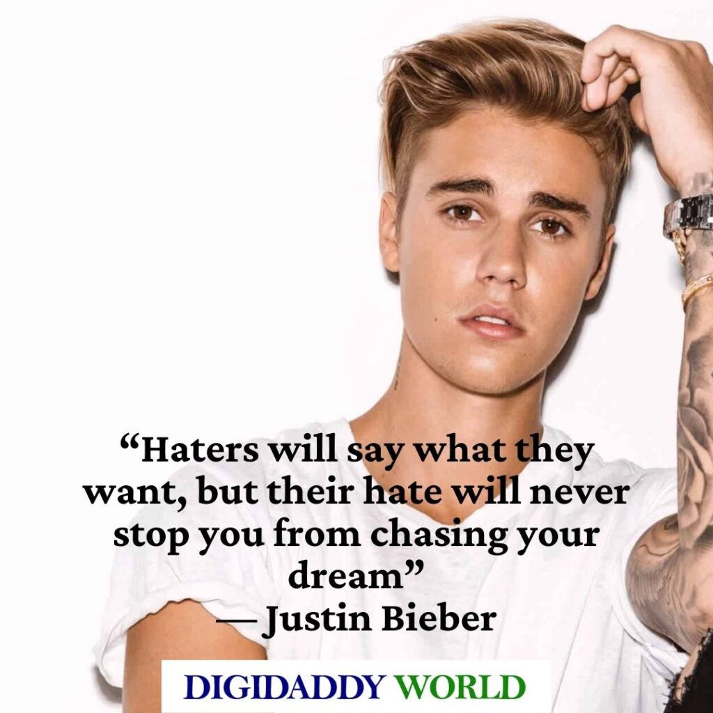 Justin Bieber Love Song Quotes and Sayings