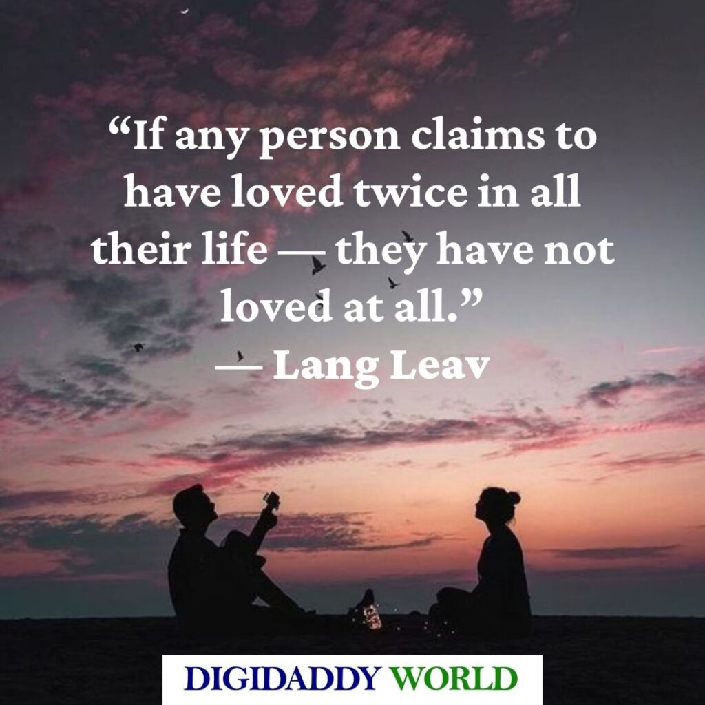 Lang Leav Poems and Quotes About Love