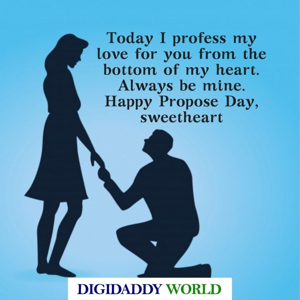 Happy Propose Day Quotes for Him/Her
