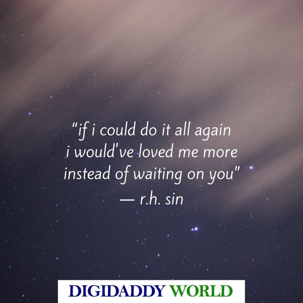 R.H. Sin Self-love Quotes