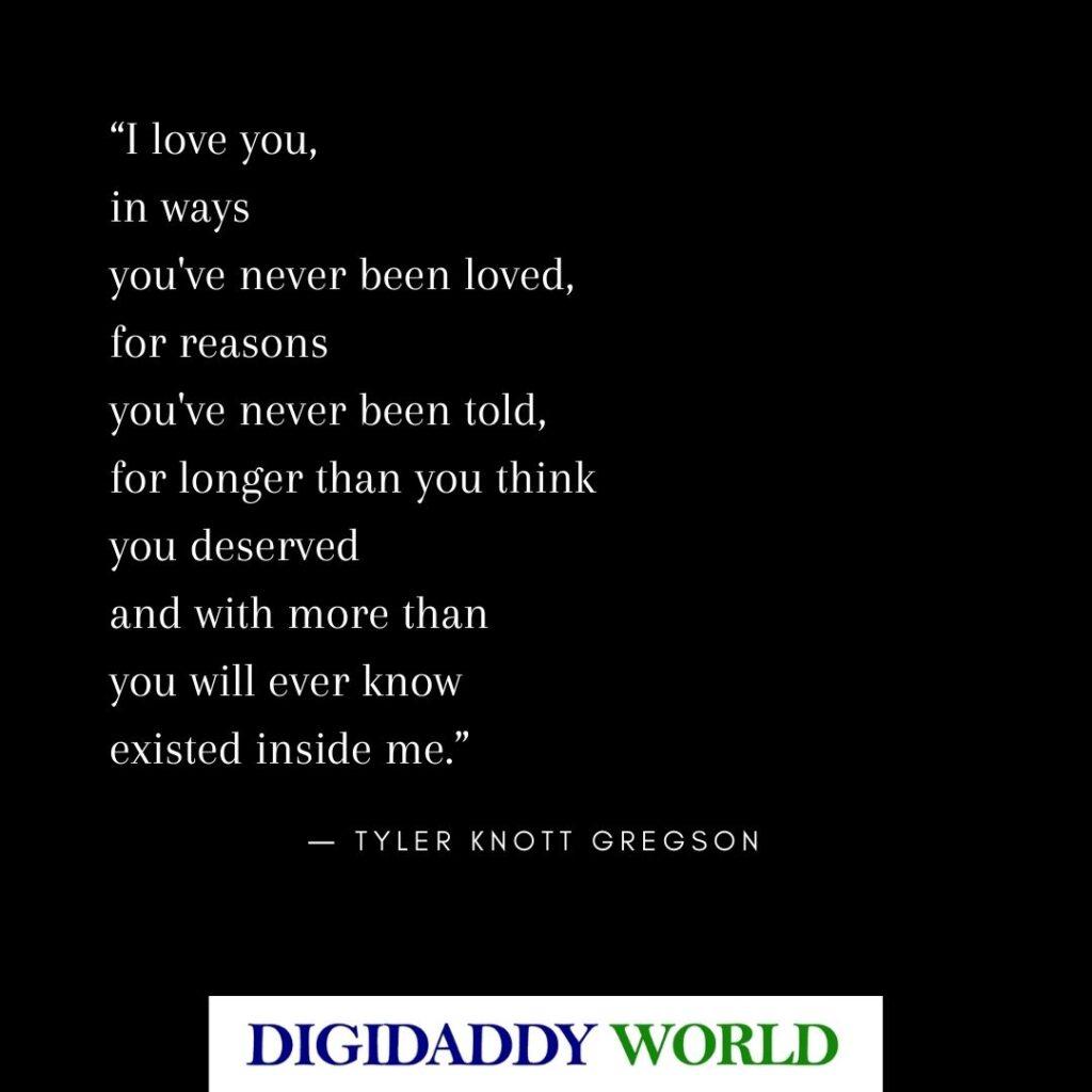 Tyler Knott Gregson Love Poems
