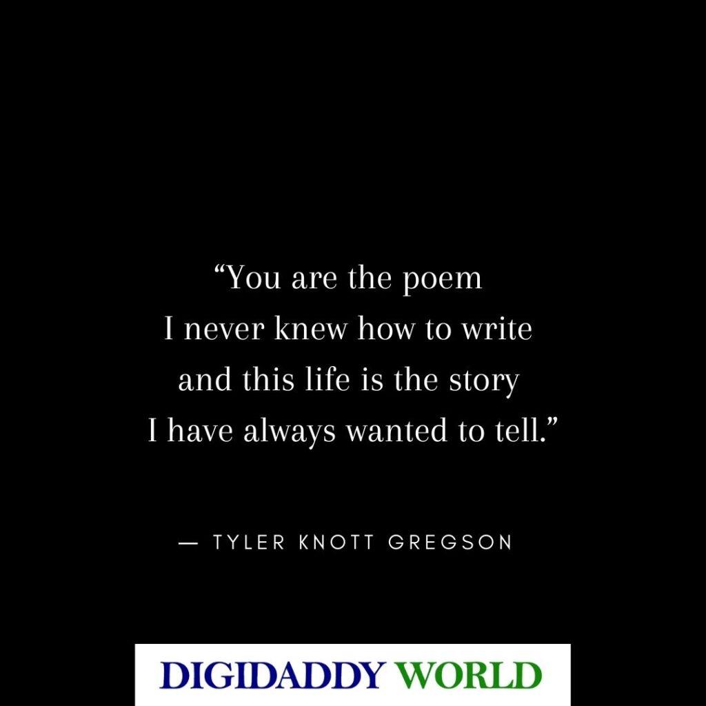 Love Poems from Tyler Knott Gregson Books