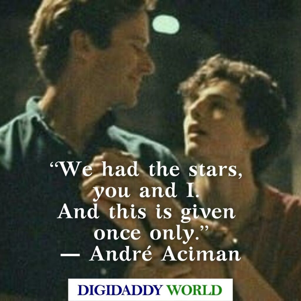 Best Call Me By Your Name Book and Movie Quotes