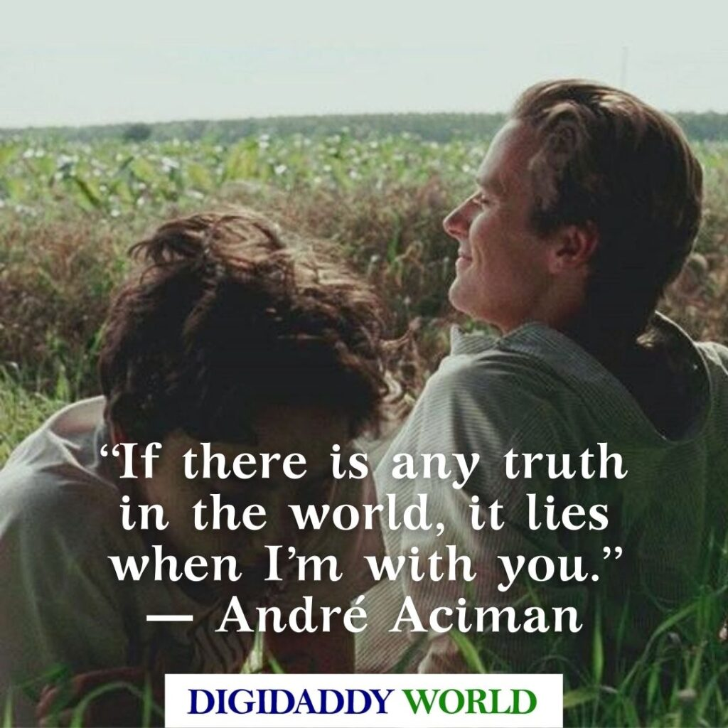 CMBYN Call Me By Your Name Book and Movie Quotes