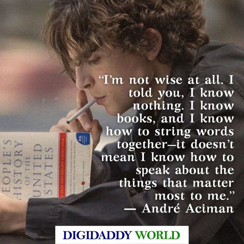 André Aciman Call Me By Your Name Best Lines