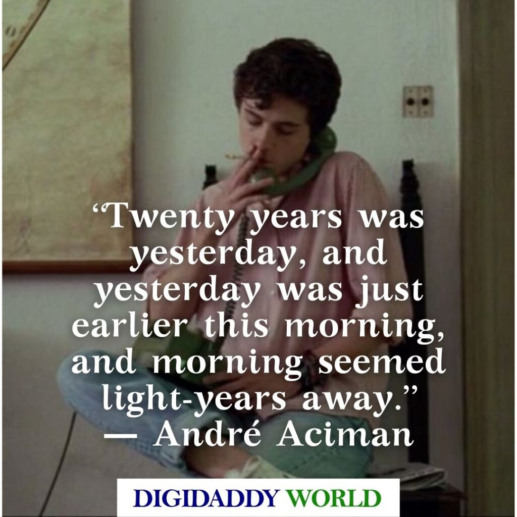 Call Me By Your Name Movie Quotes and Phrases
