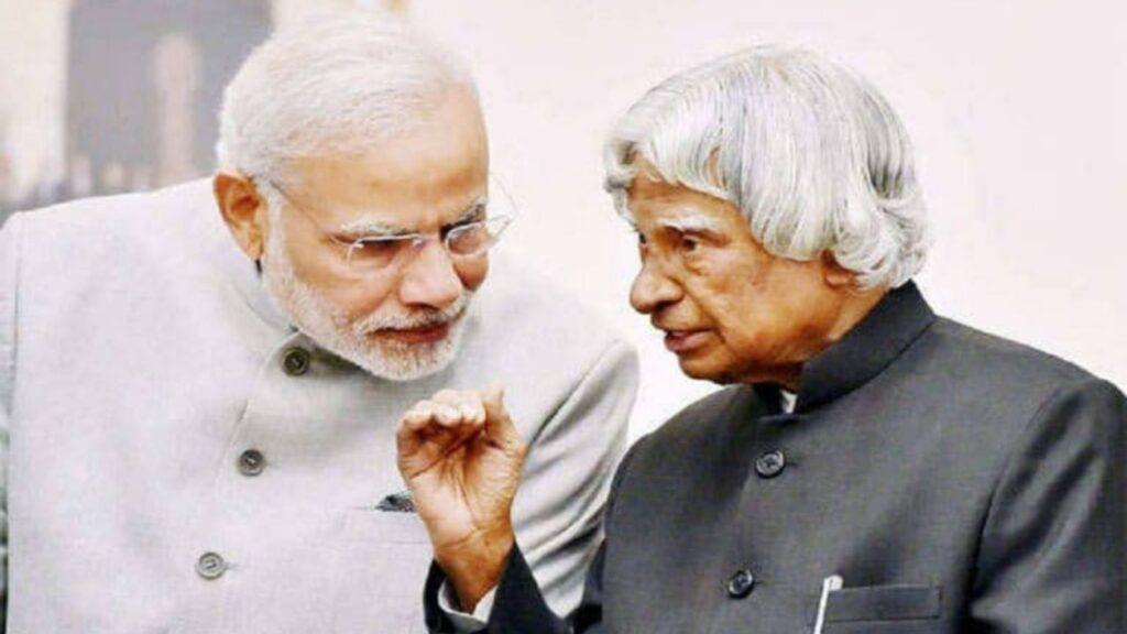 Dr. APJ Abdul Kalam with PM Narendra Modi