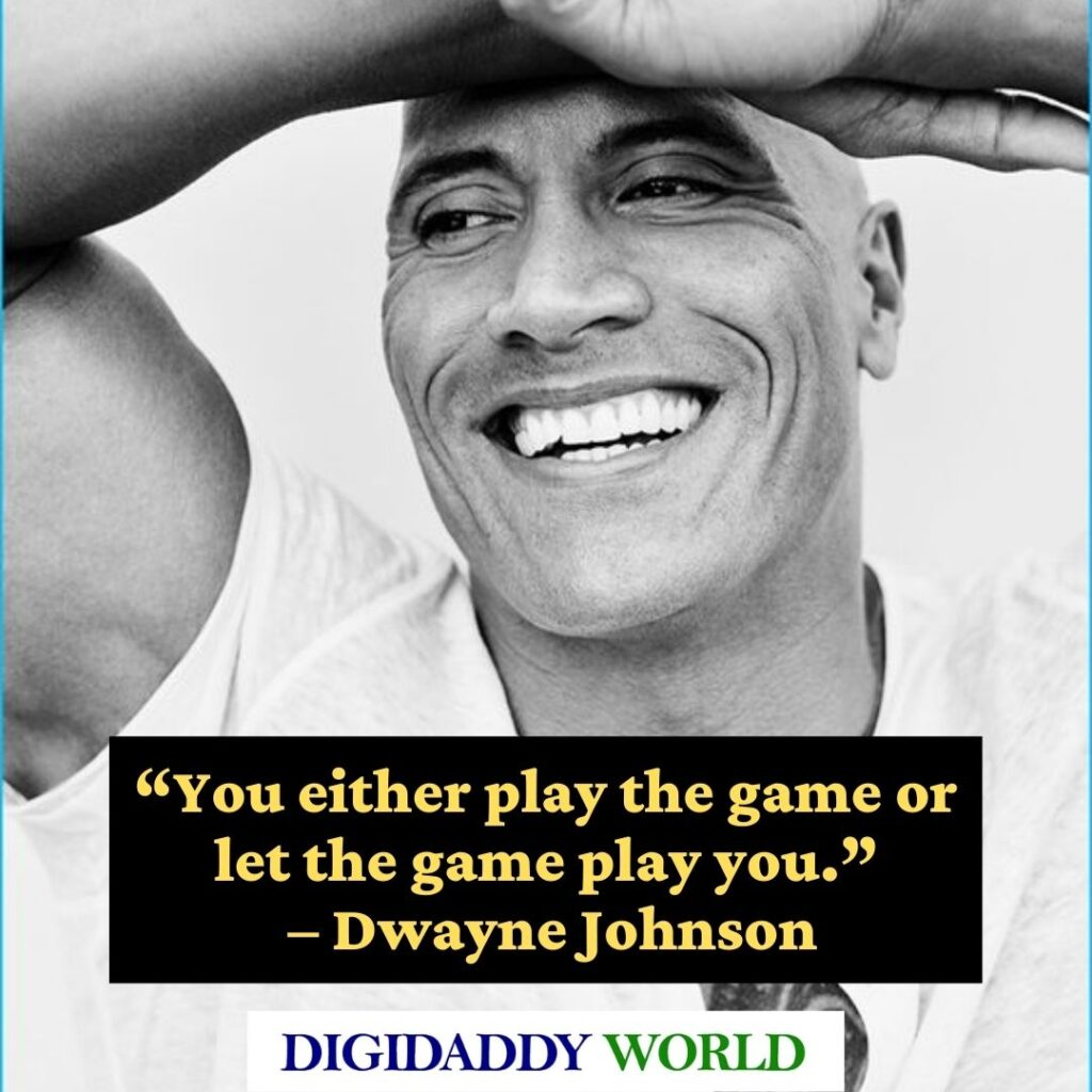 Dwayne The Rock Johnson Best workout Quotes and sayings