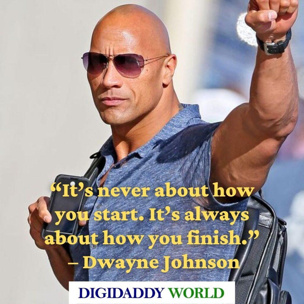 Dwayne The Rock Johnson famous Quotes about success