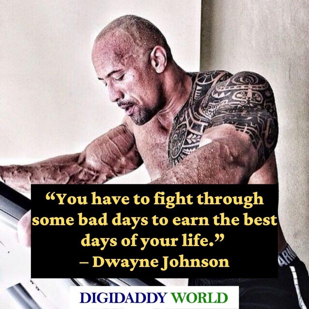 Dwayne The Rock Johnson motivational Quotes about success
