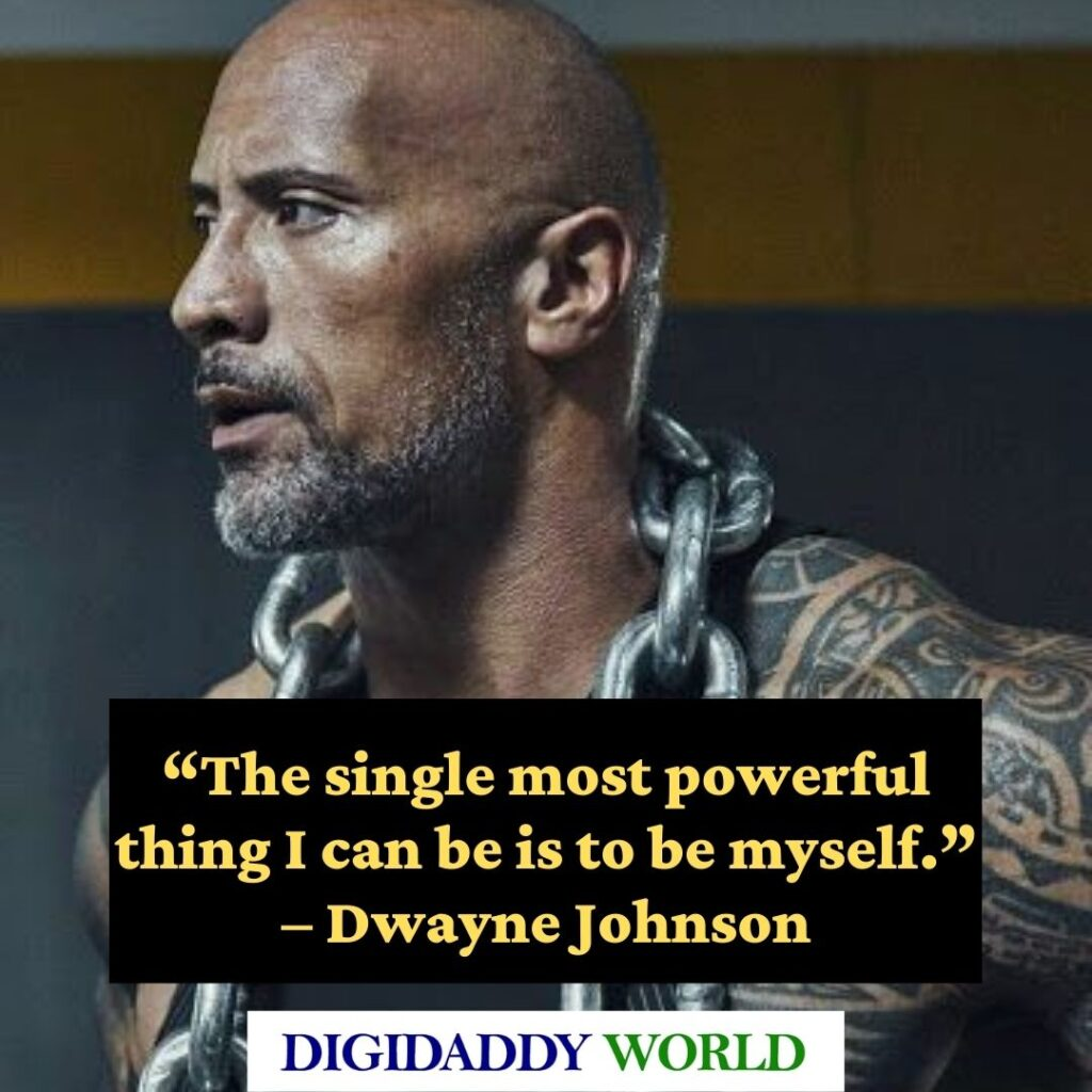 Dwayne The Rock Johnson inspirational Quotes about success