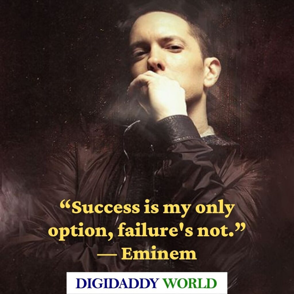 Eminem beautiful deep quotes about life