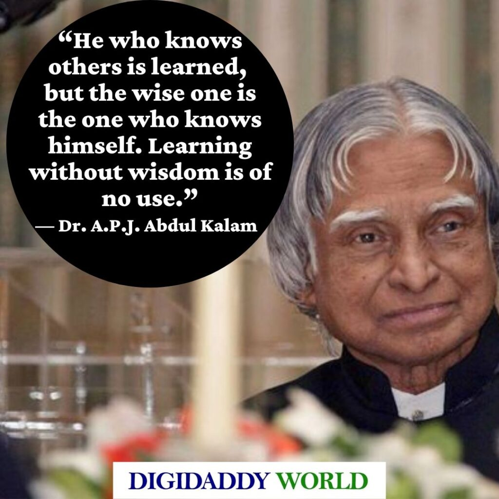 Dr. A.P.J. Abdul Kalam Quotes About Dream