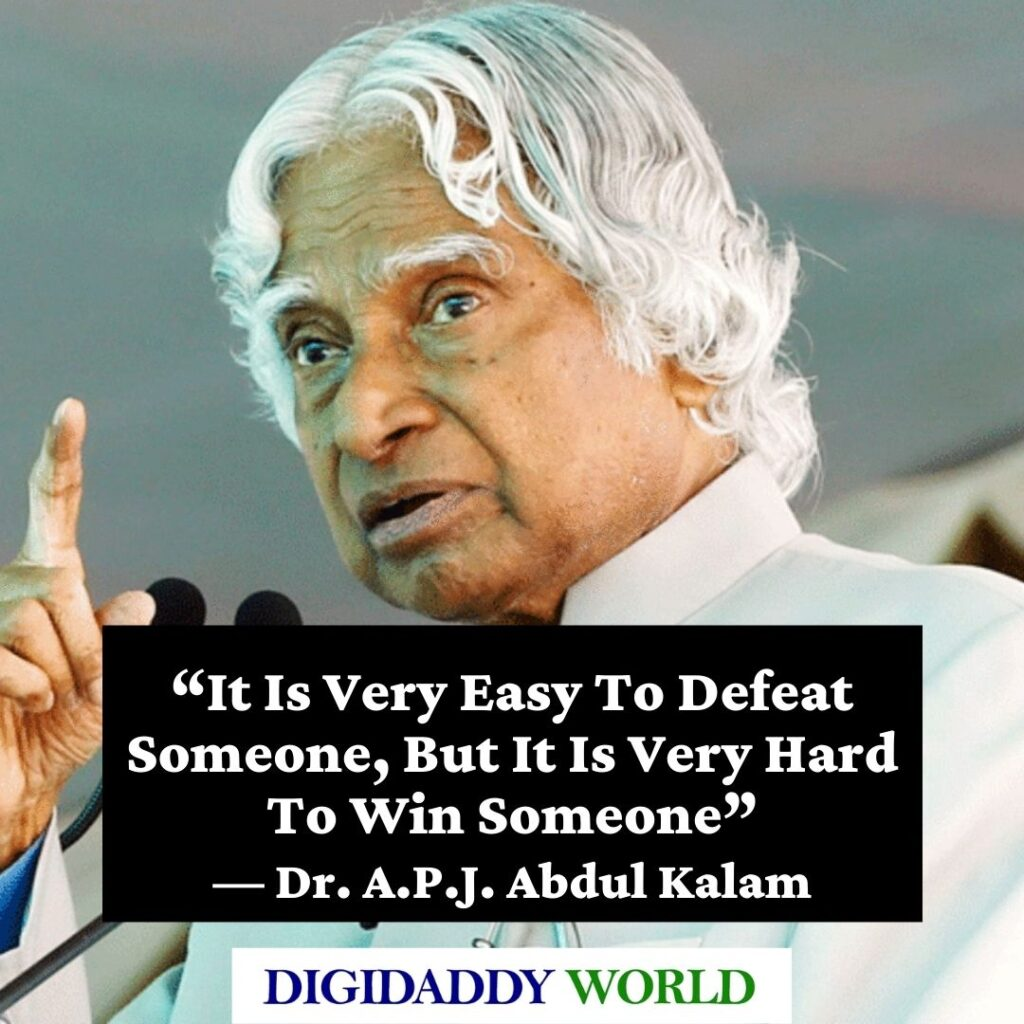 Dr. A.P.J. Abdul Kalam Quotes on Education in english