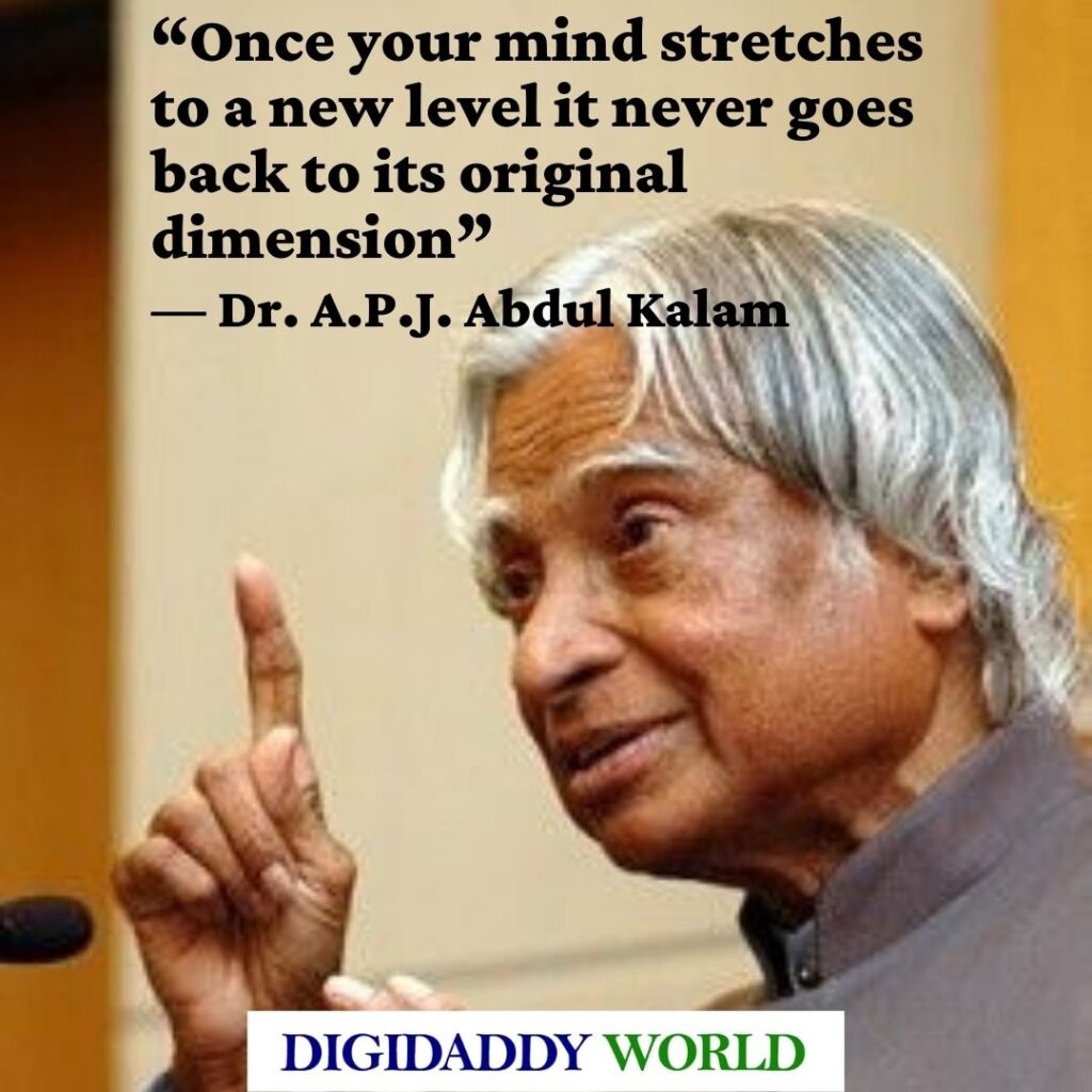 Dr. A.P.J. Abdul Kalam Quotations and Status