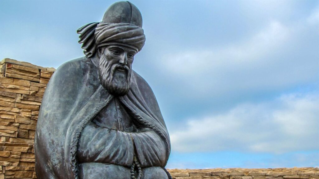 Jalaluddin Rumi statue images and wallpaper