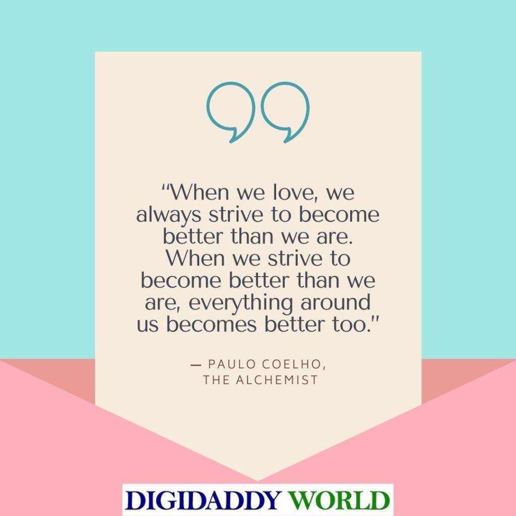 Paulo Coelho The Alchemist Book Quotes
