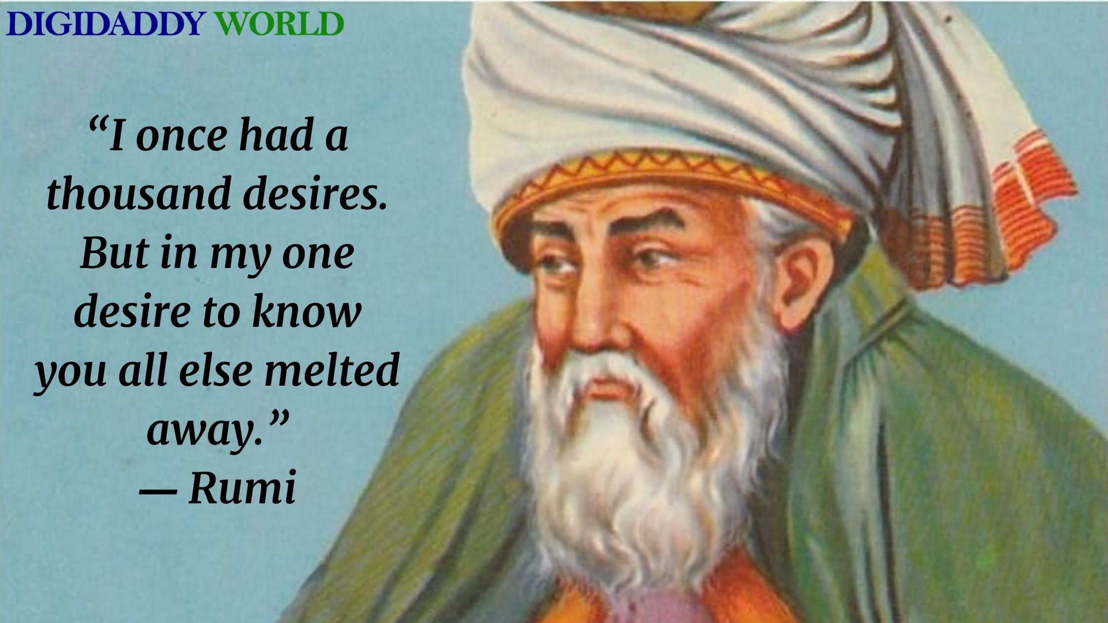 Sufi Poet Rumi Quotes on Life, Love, Nature, Death