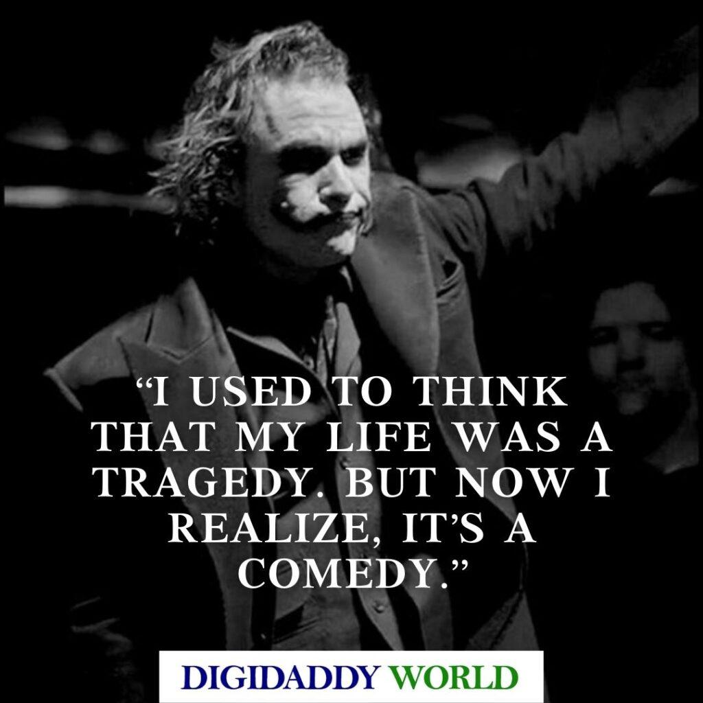 Heath Ledger Joker Sad Love Quotes Dark Knight