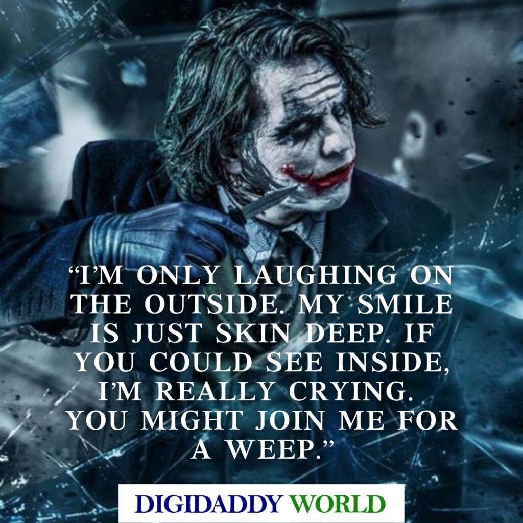 Heath Ledger Joker Quotes, Captions, Sayings in English