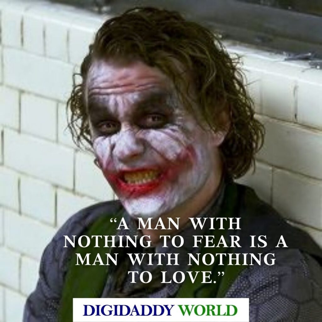 Heath Ledger Motivational and Funny Joker Quotes