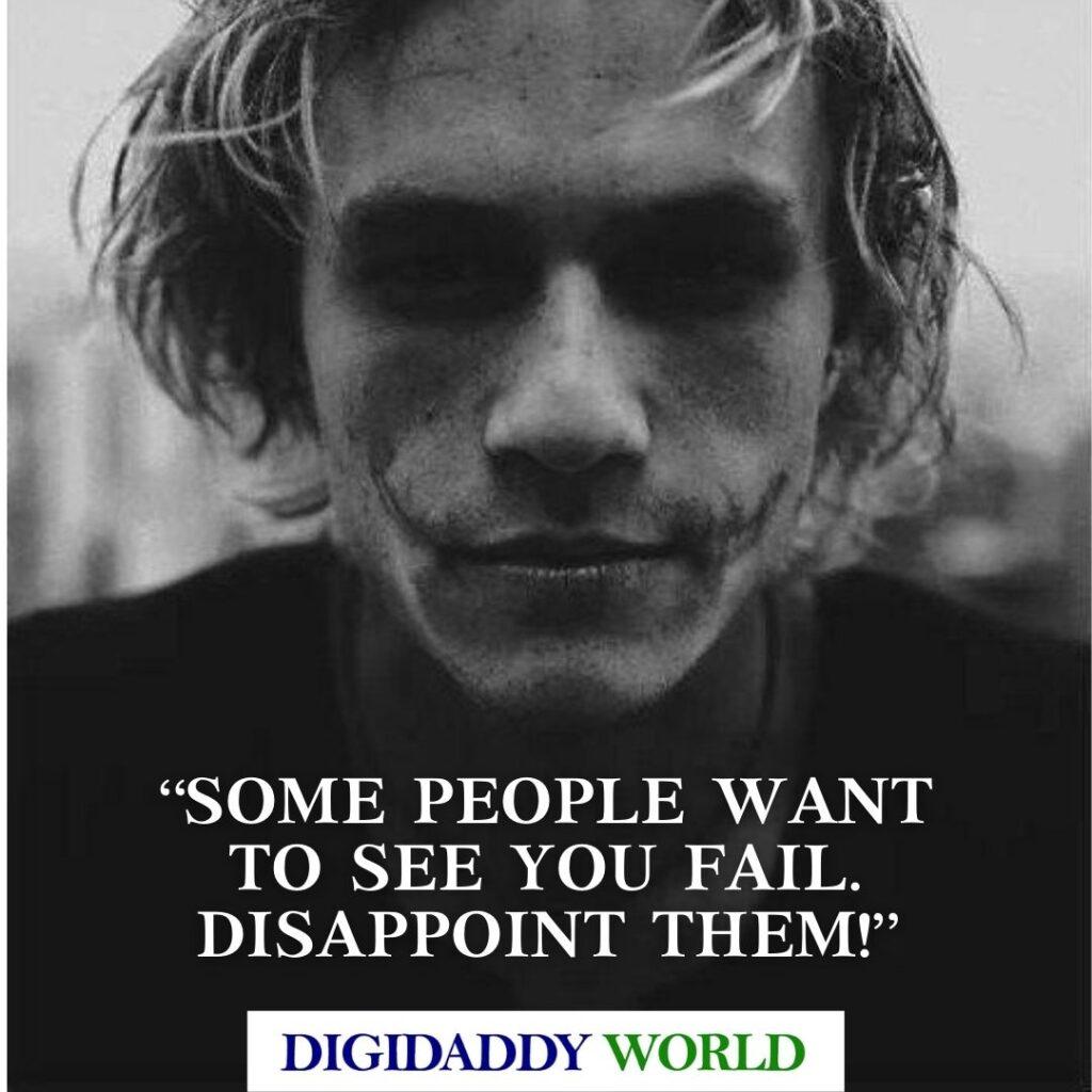 Heath Ledger Joker Attitude Quotes and Movie Dialogue