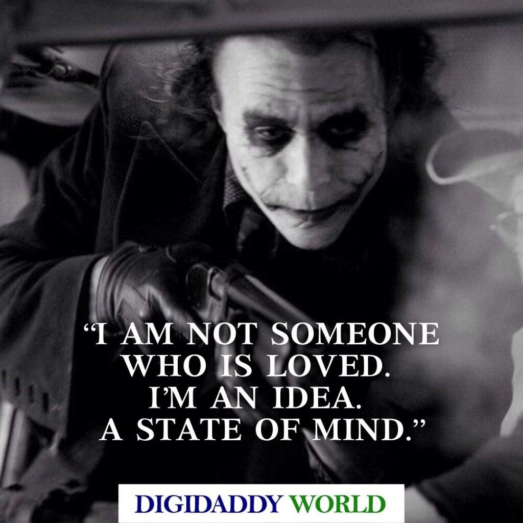 Heath Ledger Deep Joker Quotes about pain