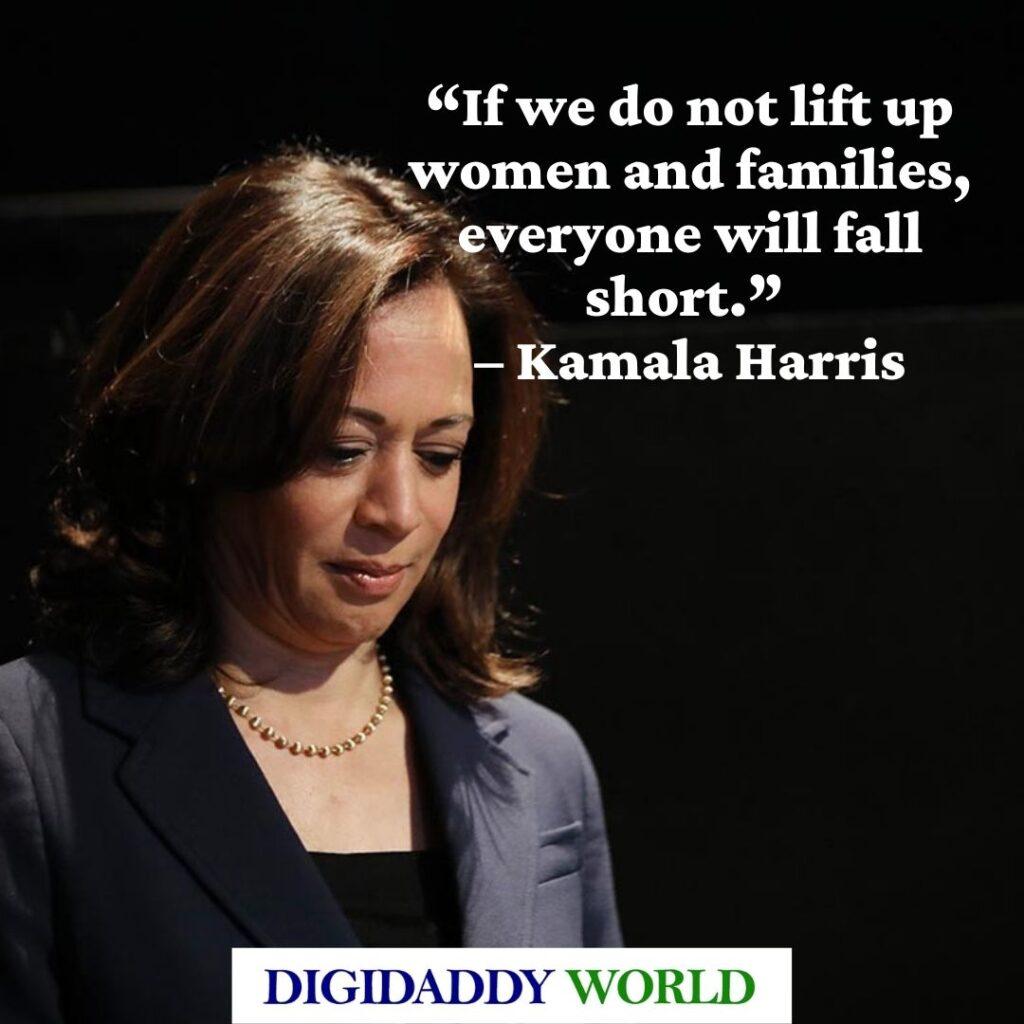 Kamala Harris Women Empowerment Quotes