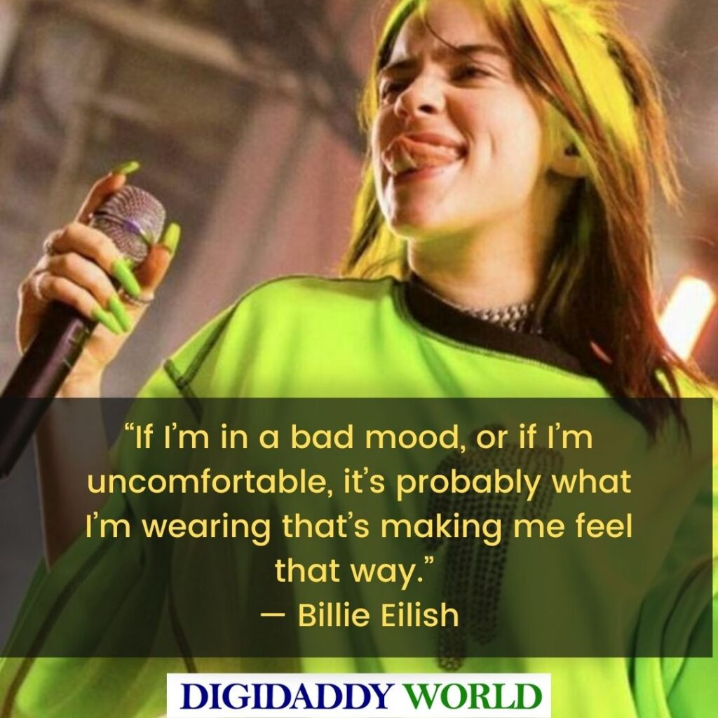 Best Billie Eilish Depression Quotes and Sayings