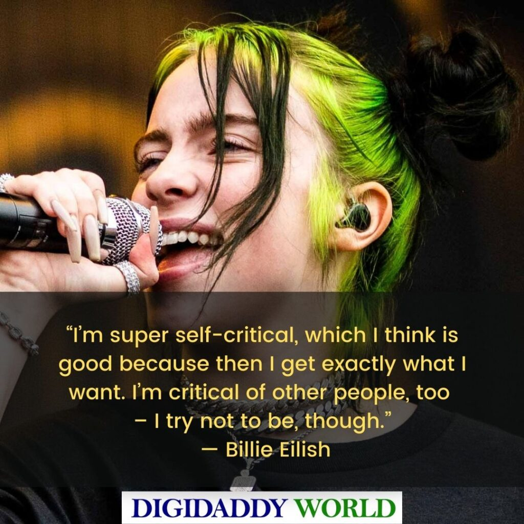 Best Billie Eilish Funny Quotes and Sayings