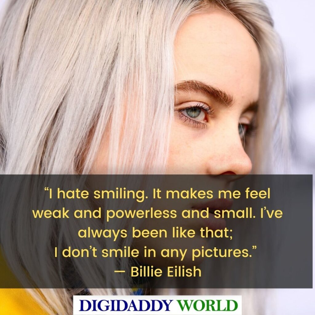 Best Billie Eilish Aesthetic Quotes and Sayings