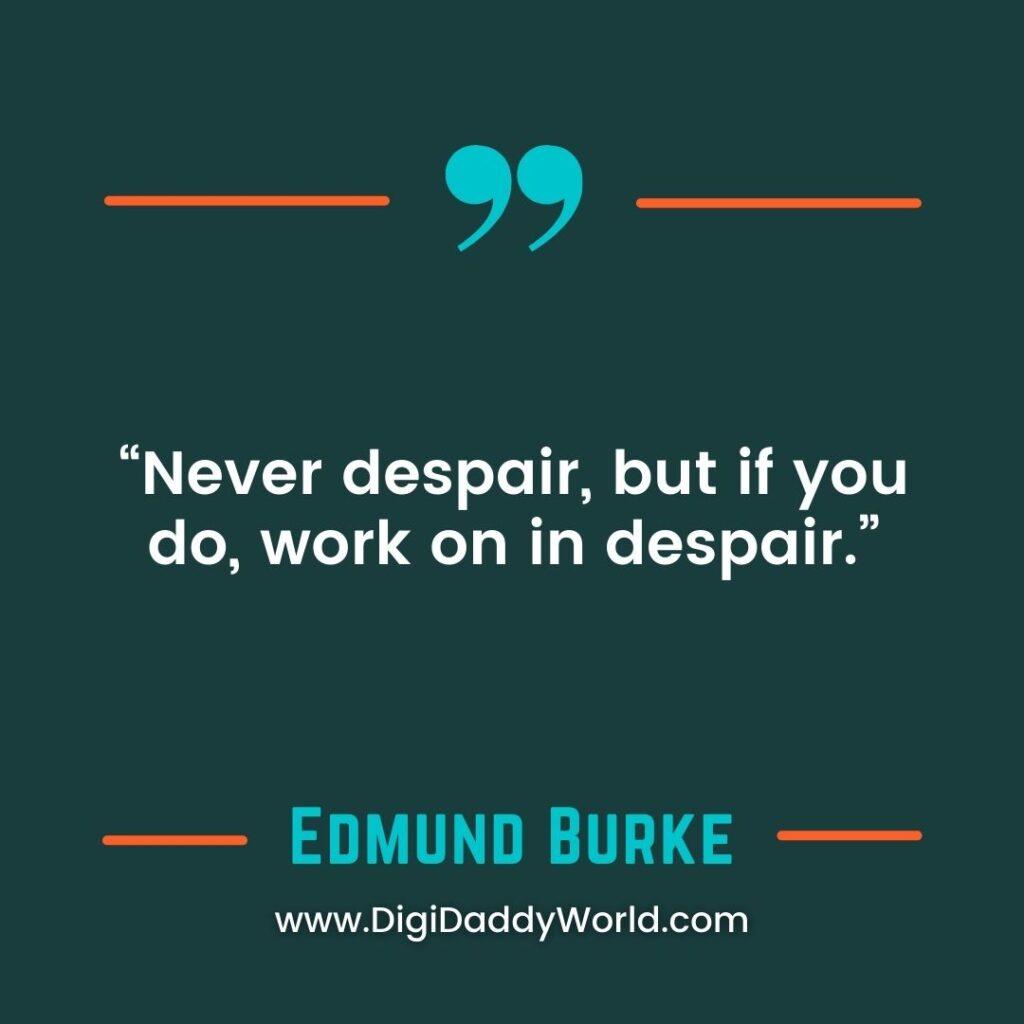 Sir Edmund Burke History Quotes