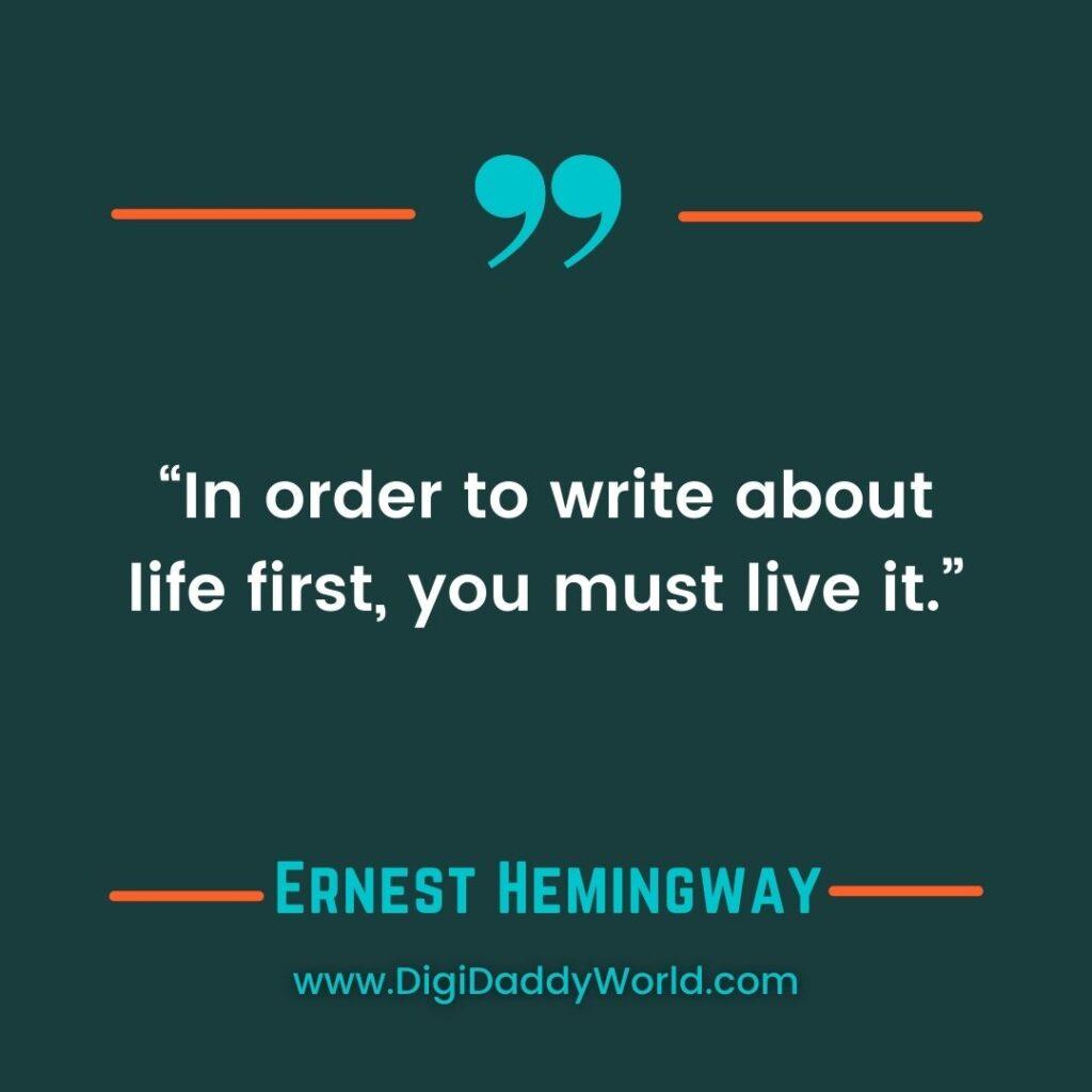 Best Ernest Hemingway Quotes