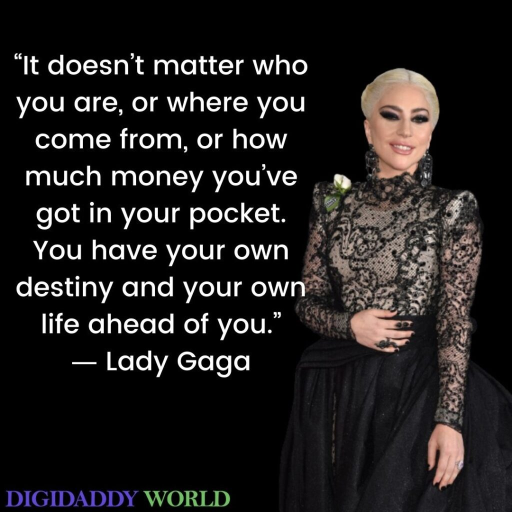 Lady Gaga Kindness, Trust Quote