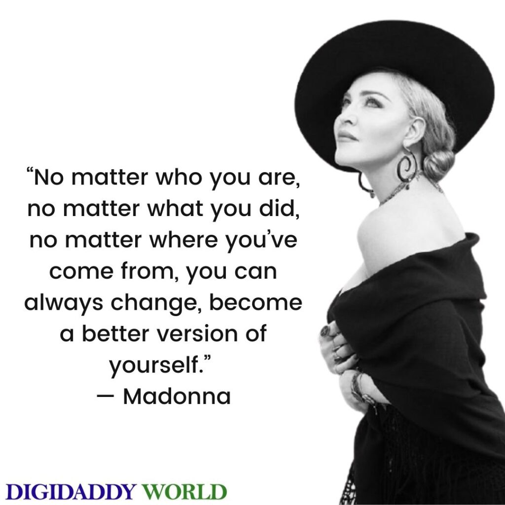 Best Madonna Inspirational Song Quotes And Sayings