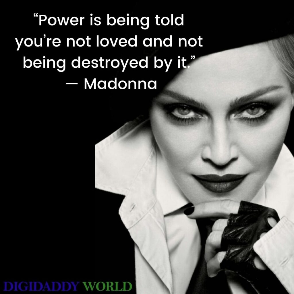 Madonna Song Quotes