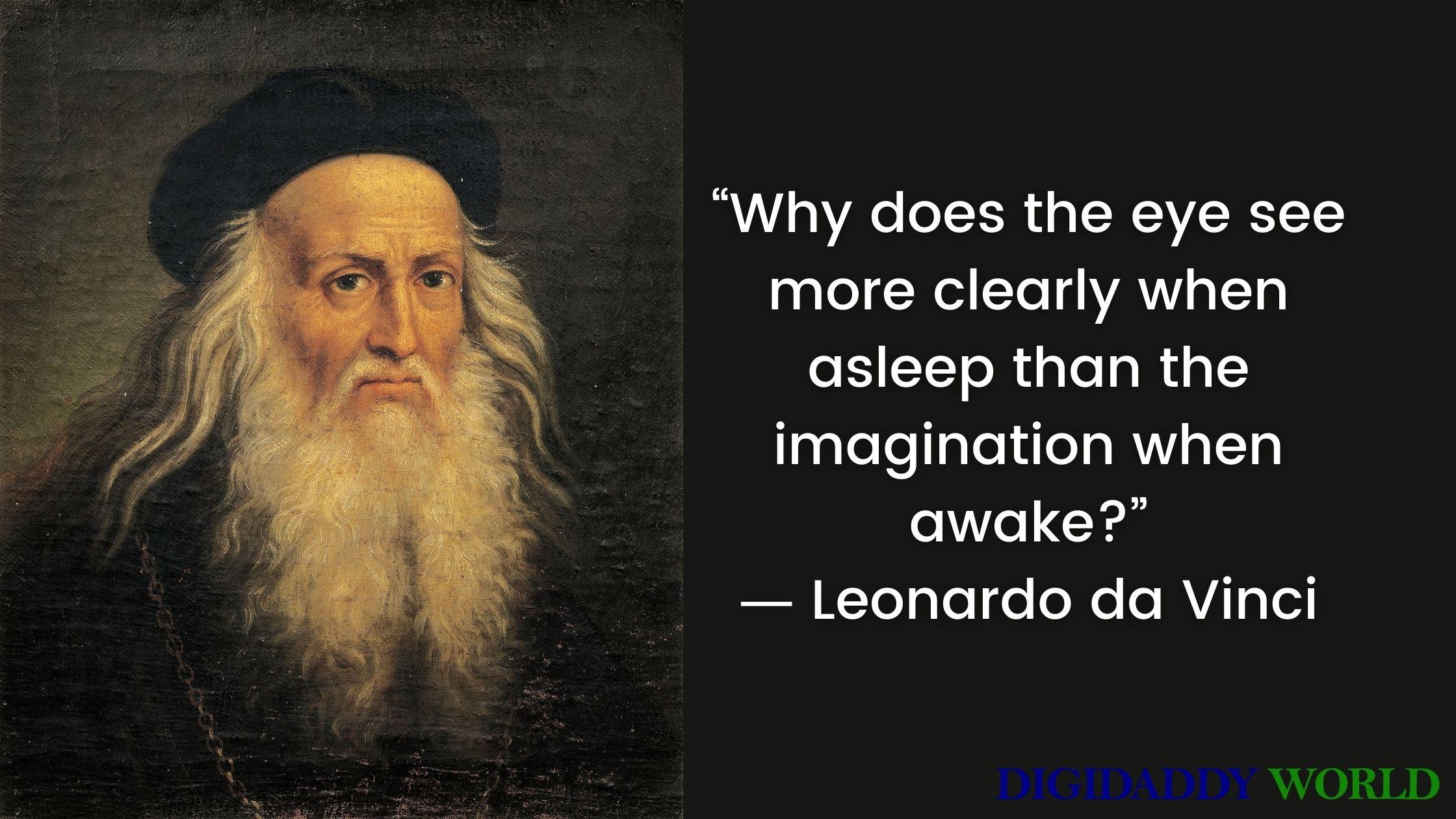 Famous Leonardo Da Vinci Quotes About Art and Life