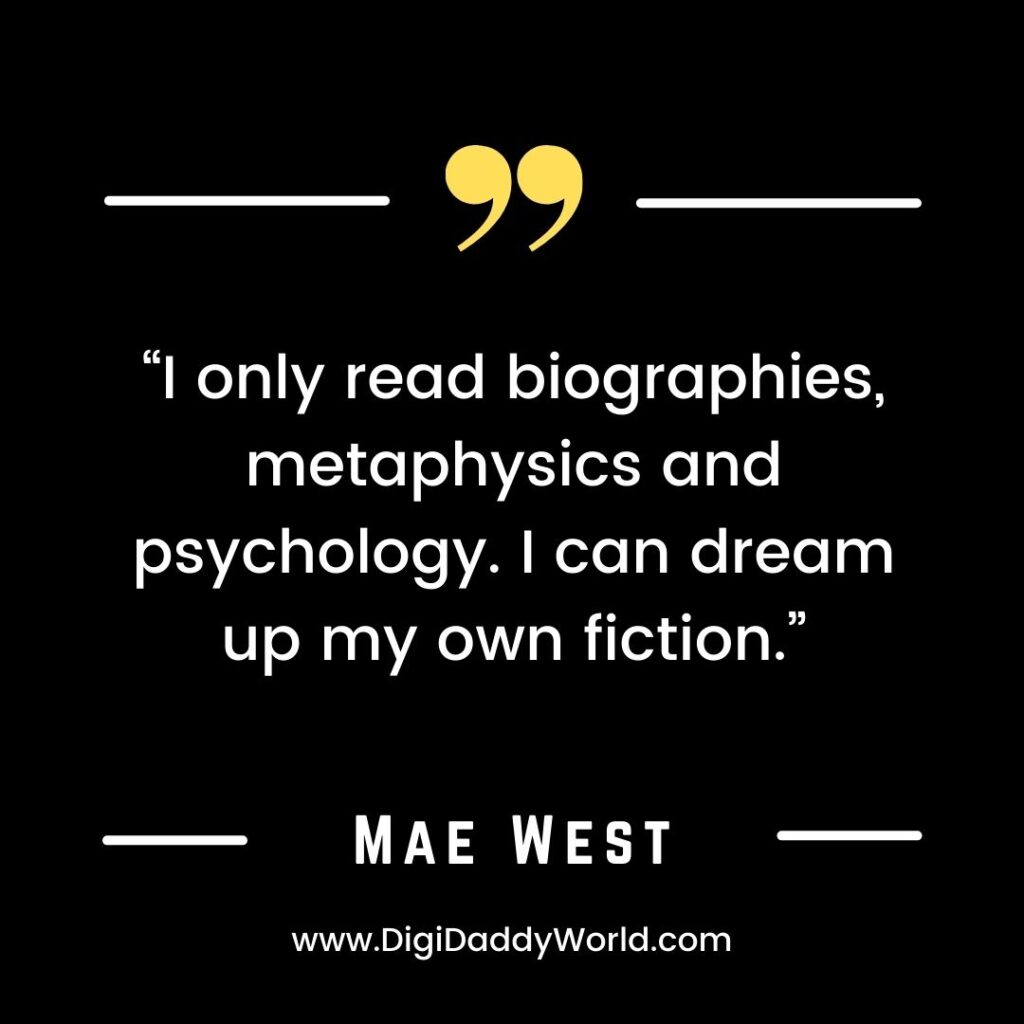 Mae West Famous Quotes and Sayings