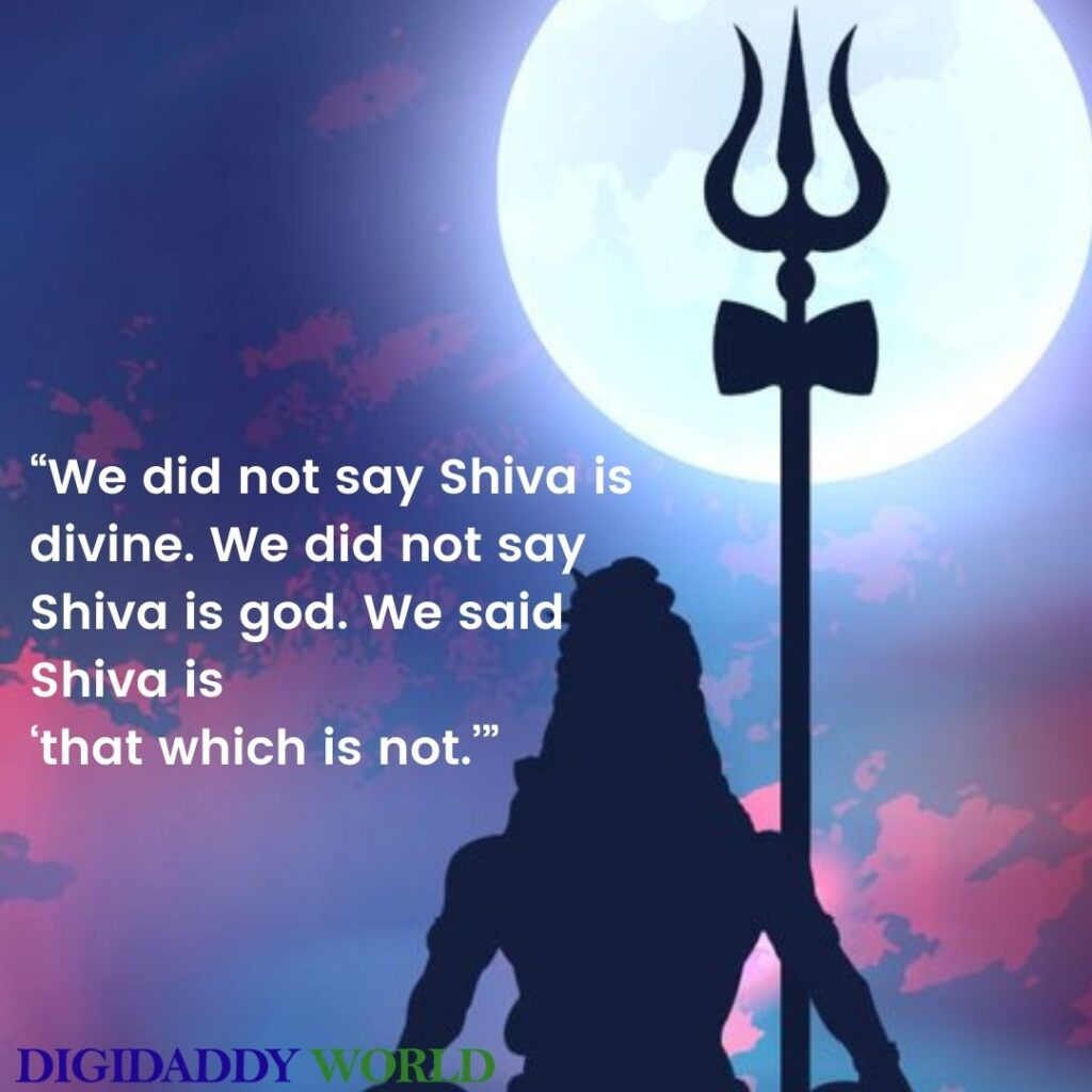 Mahadev - Lord Shiva Quotes images, Captions In English