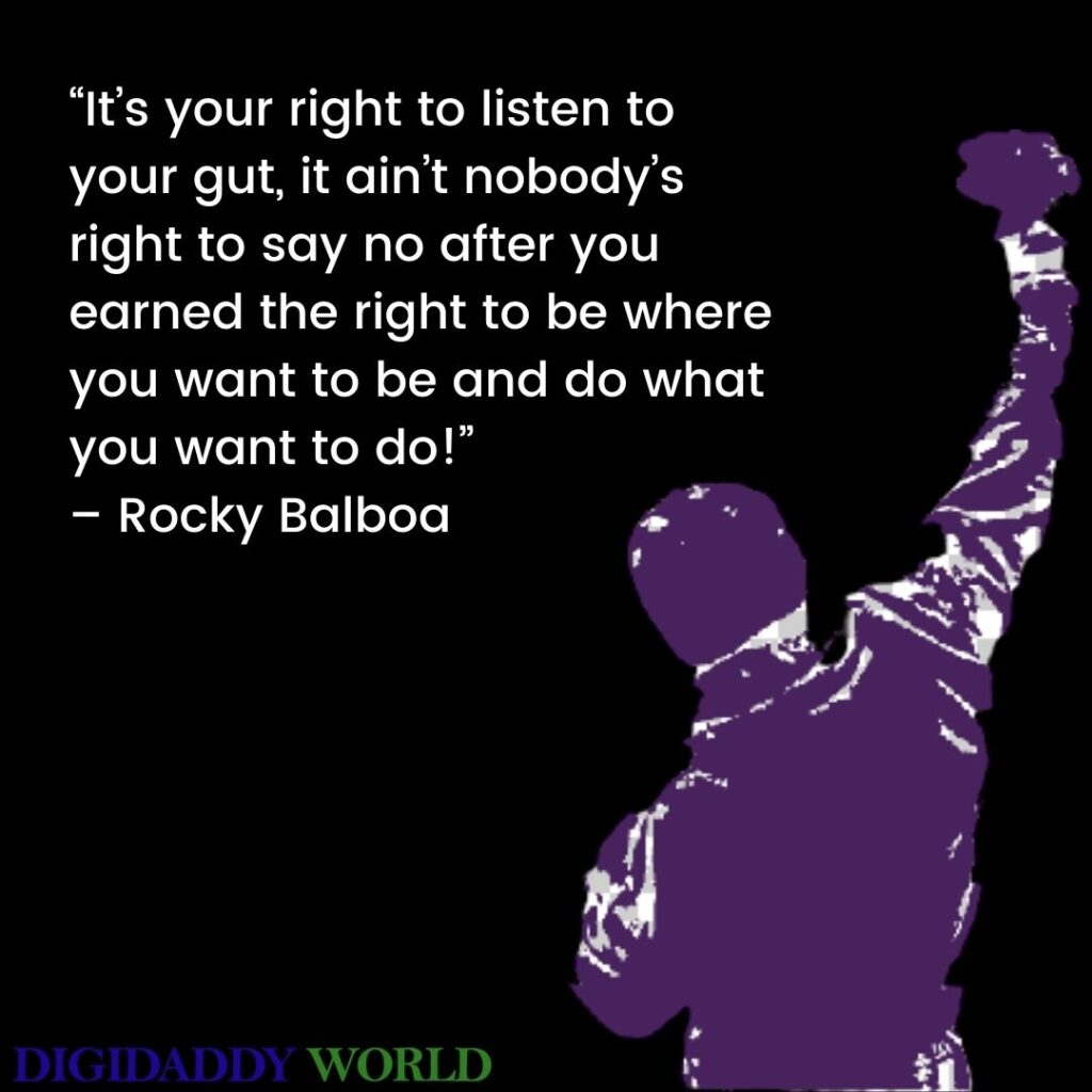 Famous Rocky Balboa Movie Quotes About Love, Life
