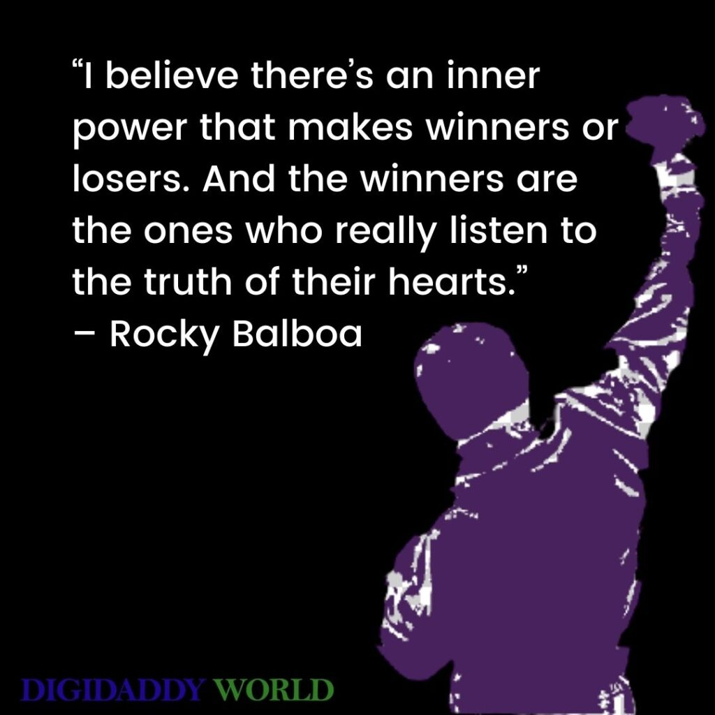 Famous Rocky Balboa Motivational Quotes to his son