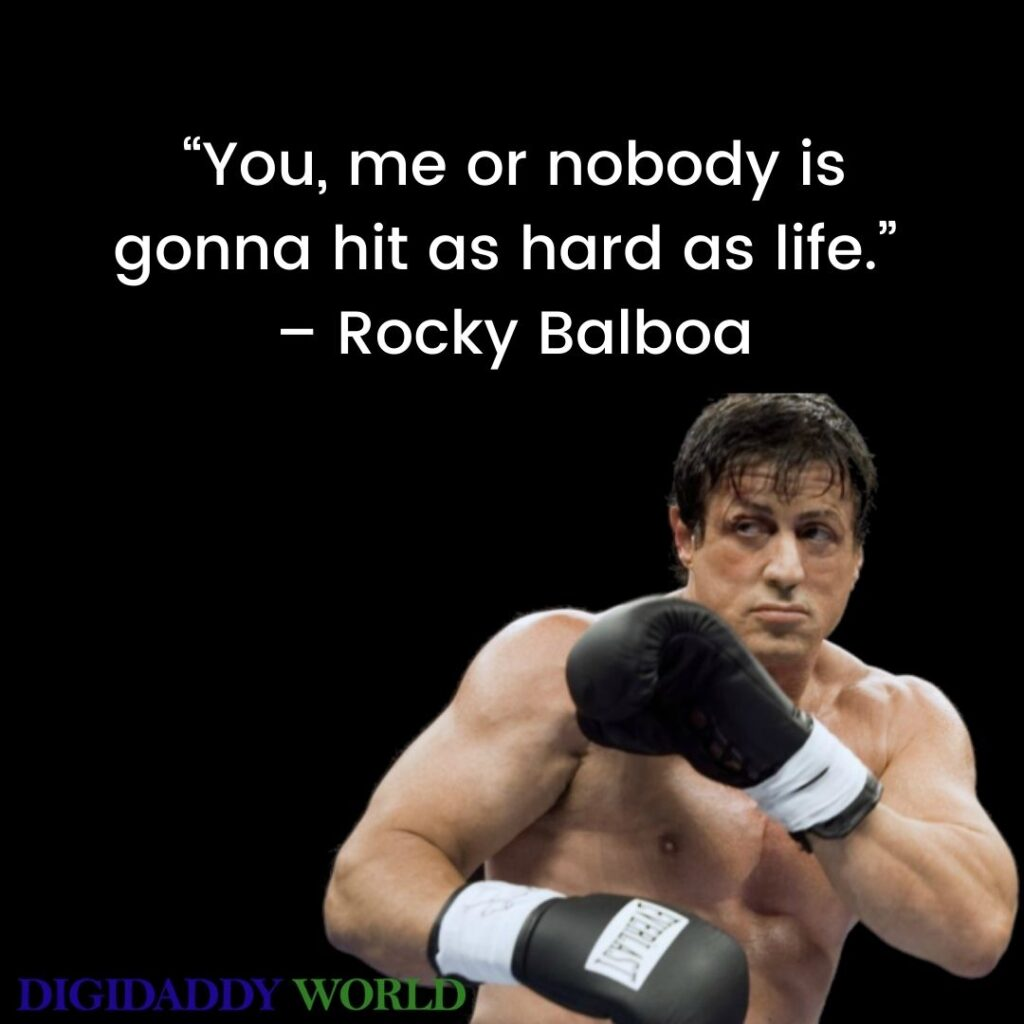 Famous Rocky Balboa Motivational Quotes About Love, Life