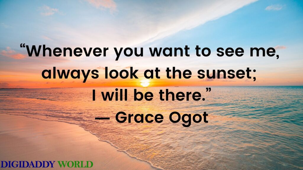 Famous Sunset Love Quotes