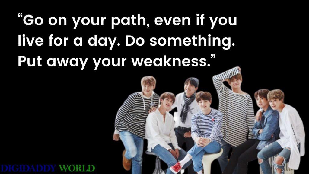 Inspirational BTS Song Quotes & Lyrics